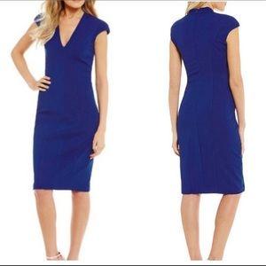 Betsey Johnson Cap Sleeve VNeck Sheath Dress Sz 0